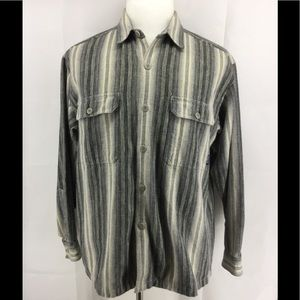 PATAGONIA FLANNEL STRIPE SHIRT M